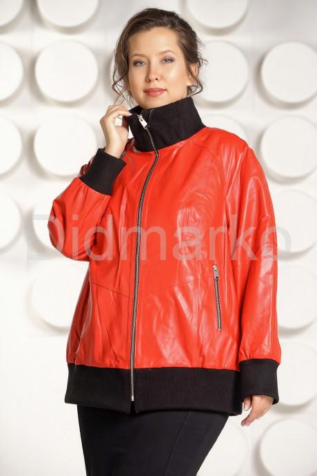 Купить Кожаная куртка красного цвета больших размеров в Москве и Санкт-Петербурге