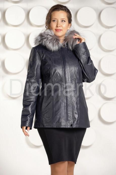 Купить Приталенная кожаная куртка больших размеров с мехом в Москве и Санкт-Петербурге