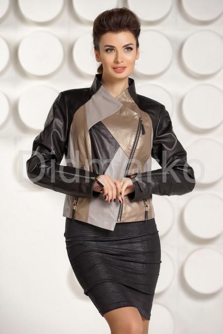 Купить Комбинированная кожаная куртка для женщин в Москве и Санкт-Петербурге
