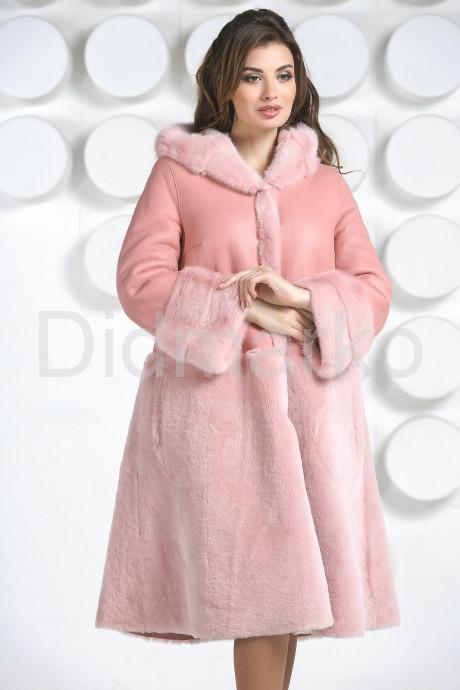 Купить Розовая двусторонняя дубленка в Москве и Санкт-Петербурге