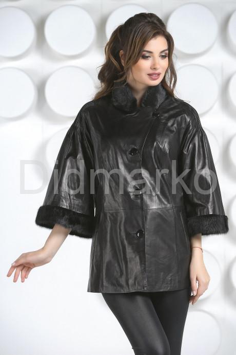 Кожаная куртка с укороченными рукавами