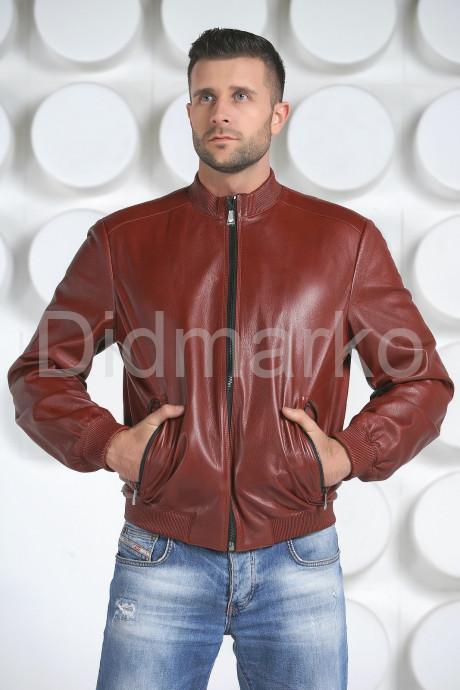 Купить Мужская кожаная куртка на резинке в Москве и Санкт-Петербурге