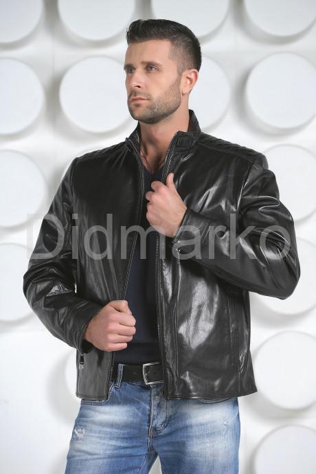 Купить Короткая мужская кожаная куртка в Москве и Санкт-Петербурге