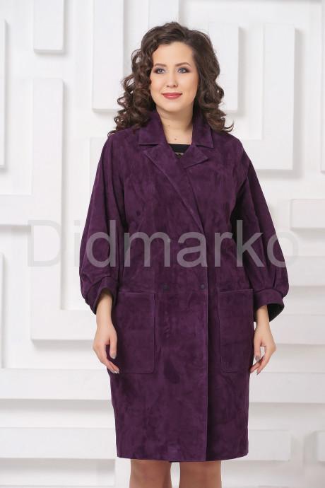 Купить Плащ из замши фиолетового цвета в Москве и Санкт-Петербурге