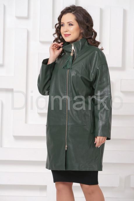 Купить Женский кожаный плащ зеленого цвета в Москве и Санкт-Петербурге