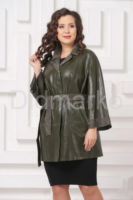 Купить Двусторонний кожаный плащ зеленого цвета в Москве и Санкт-Петербурге