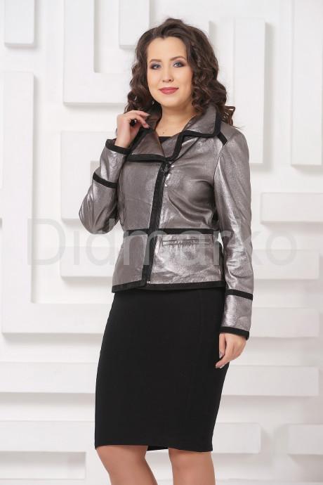 Купить Серебристая кожаная куртка косуха в Москве и Санкт-Петербурге