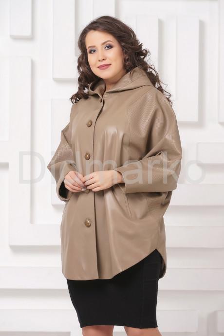 Купить Кожаная куртка больших размеров бежевого цвета в Москве и Санкт-Петербурге