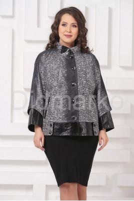 Комбинированная женская куртка из замши