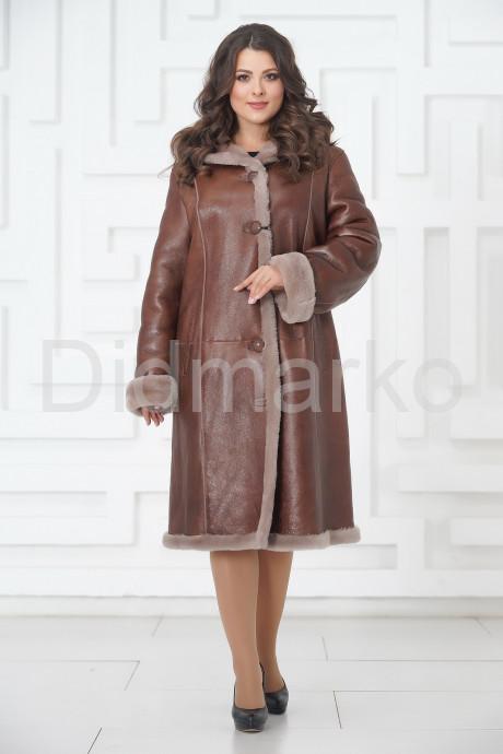 Купить Длинная женская дубленка на пуговицах в Москве и Санкт-Петербурге