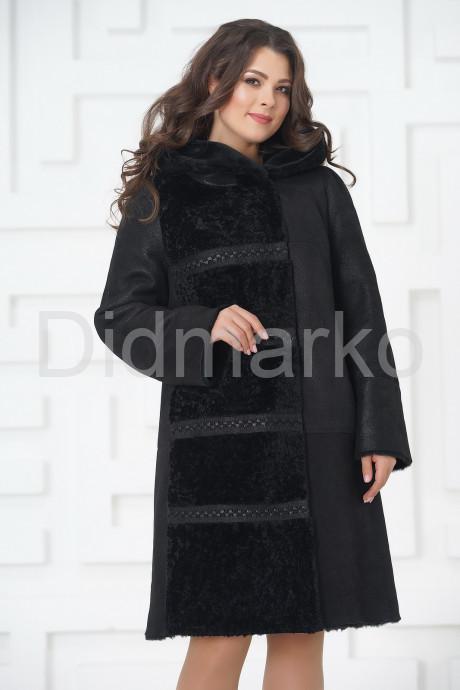 Необычное пальто из овчины