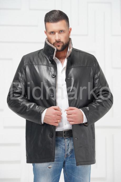 Купить Мужская кожаная куртка на меху в Москве и Санкт-Петербурге