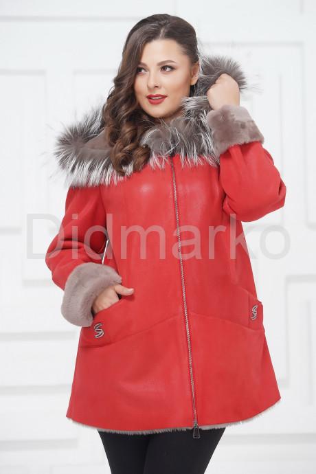 Купить Удлиненная куртка из овчины с чернобуркой в Москве и Санкт-Петербурге