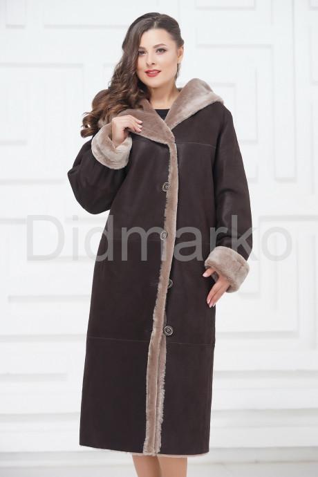 Купить Длинная дубленка большого размера в Москве и Санкт-Петербурге