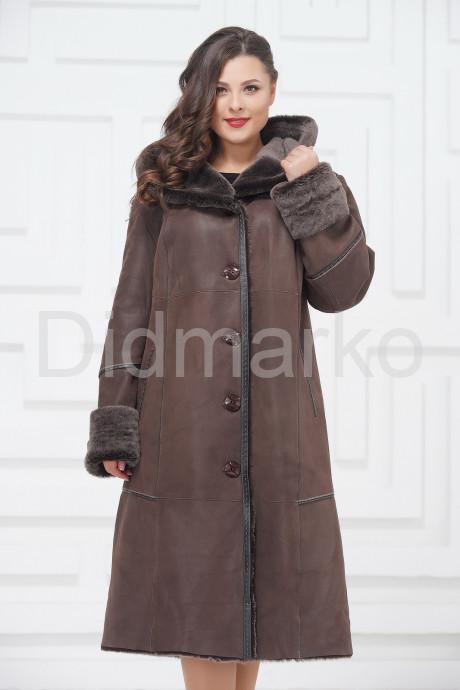 Купить Женское пальто из овчины с капюшоном в Москве и Санкт-Петербурге