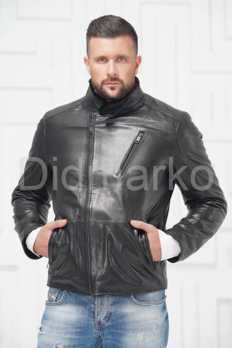 Купить СКИДКА! Мужская кожаная куртка на меху 2021 в Москве и Санкт-Петербурге