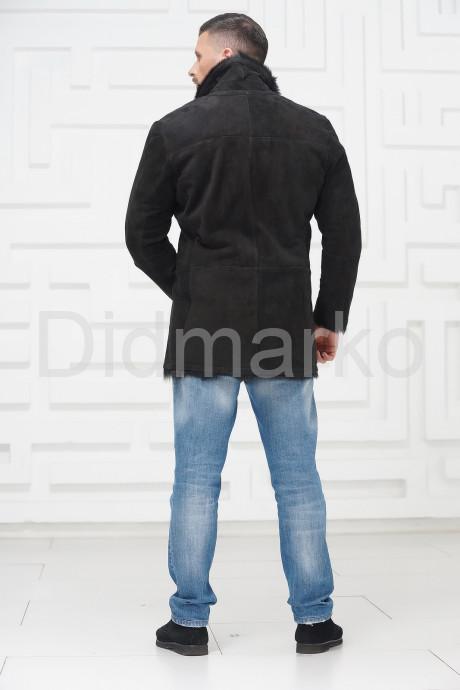 Мужская дубленка из замша с мехом тоскана
