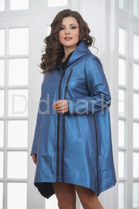 Купить Кожаный плащ в стиле бохо цвета индиго в Москве и Санкт-Петербурге