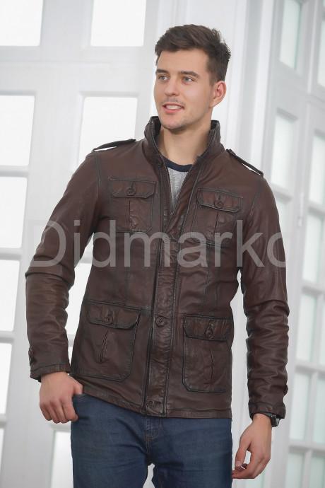Купить Мужская кожаная куртка в стиле Сафари в Москве и Санкт-Петербурге