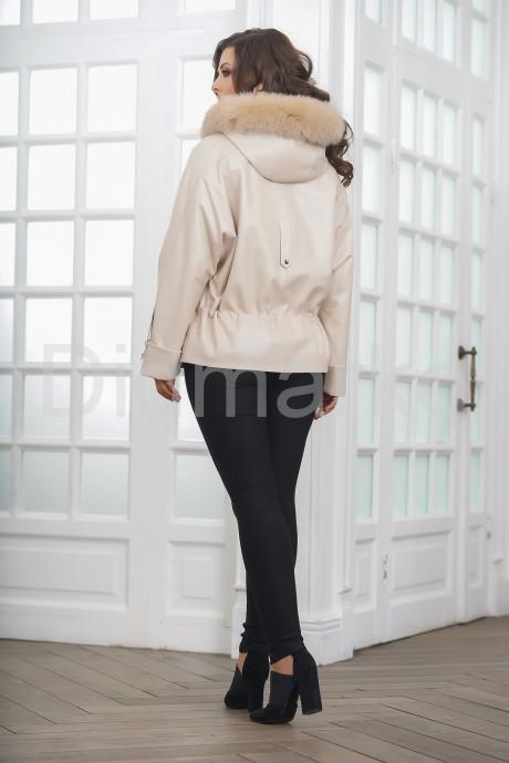 Короткая кожаная куртка с кулиской