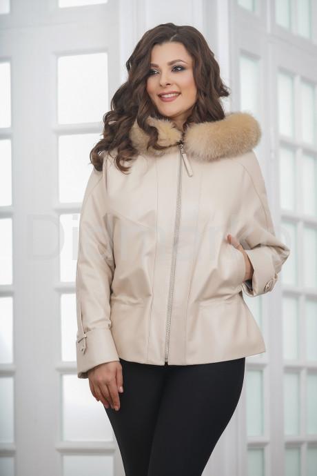Купить Короткая кожаная куртка с кулиской в Москве и Санкт-Петербурге
