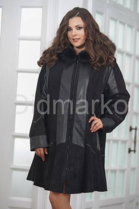 Купить Трапециевидное кожаное пальто с капюшоном в Москве и Санкт-Петербурге