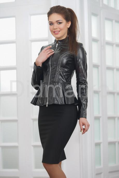 Купить Лаковая кожаная куртка с баской Хит 2021 в Москве и Санкт-Петербурге