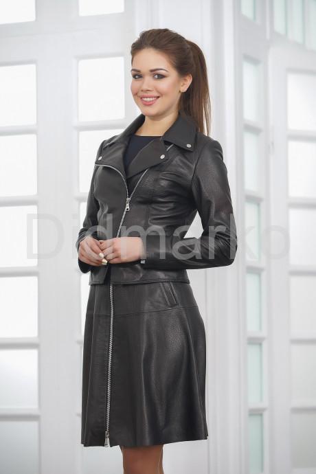 Стильная молодежная кожаная куртка косуха 2021