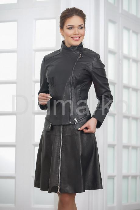 Купить Модная женская куртка косуха кожаная в Москве и Санкт-Петербурге