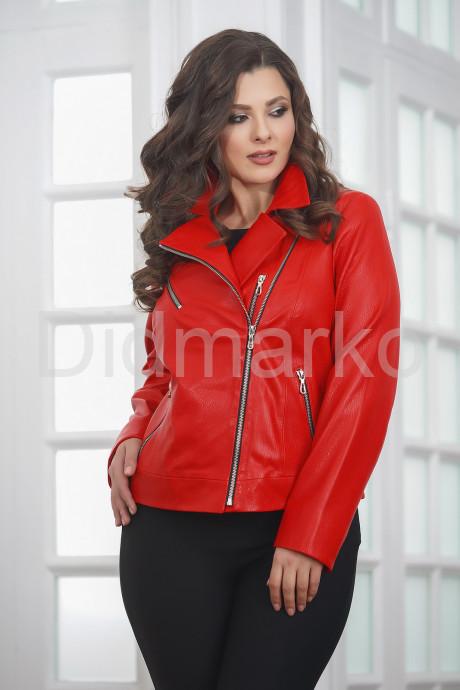 Купить Красная кожаная женская косуха больших размеров в Москве и Санкт-Петербурге