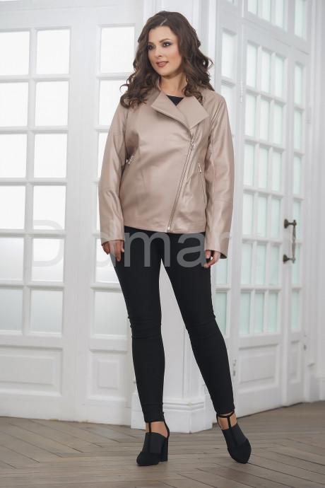 Женская кожаная куртка косуха весна-осень 2021