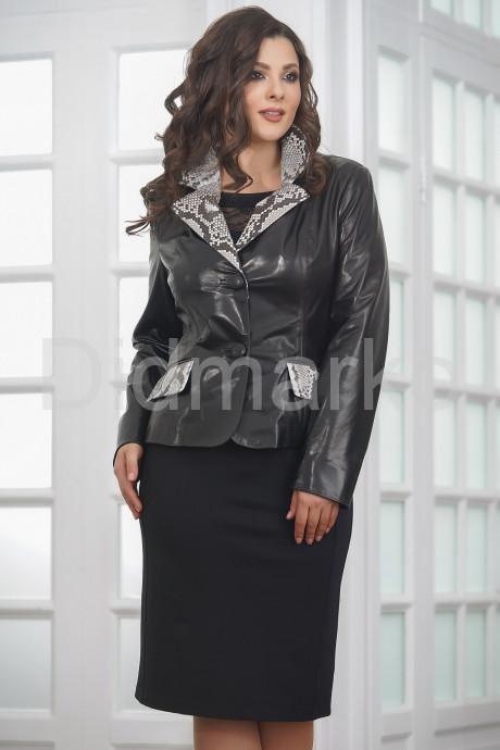 Купить Женская кожаная куртка со вставками из натурального питона в Москве и Санкт-Петербурге