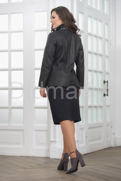 Удлиненная кожаная куртка на молнии женский