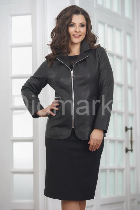 Купить Удлиненная кожаная куртка на молнии женский в Москве и Санкт-Петербурге