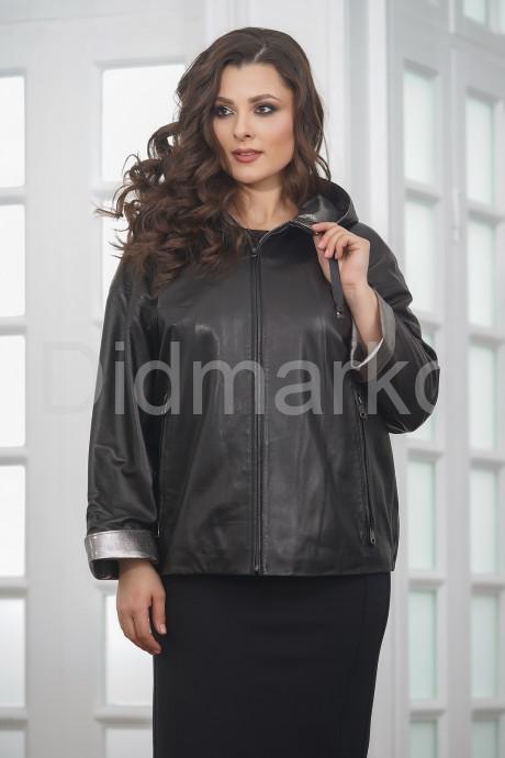 Купить Короткая кожаная куртка с капюшоном больших размеров в Москве и Санкт-Петербурге