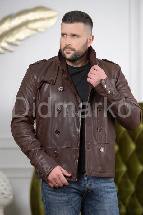 Купить Мужская двубортная кожаная куртка в Москве и Санкт-Петербурге