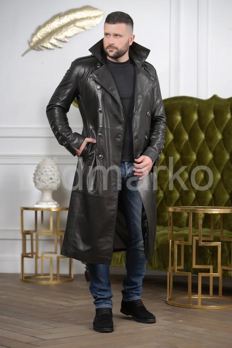 Купить Мужской кожаный плащ осень 2021 в Москве и Санкт-Петербурге