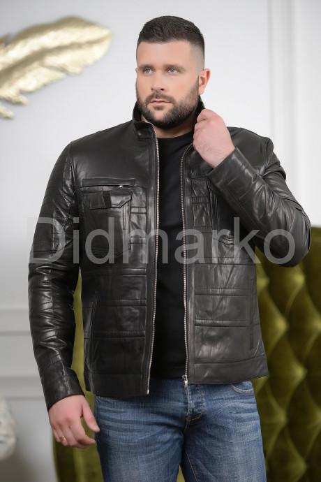 Купить Стильная мужская кожаная куртка с карманами в Москве и Санкт-Петербурге