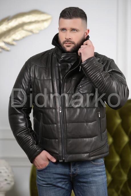 Купить Короткая зимняя кожаная куртка для мужчин в Москве и Санкт-Петербурге