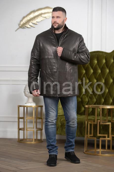 Удлиненная мужская дубленка больших размеров