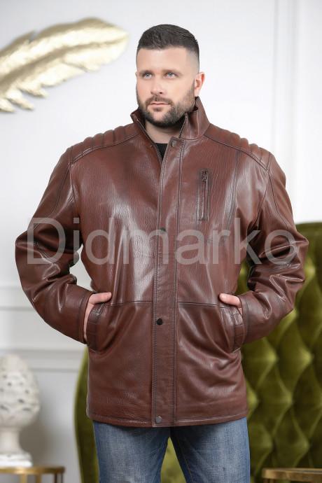 Купить Удлиненная мужская кожаная куртка цвета виски в Москве и Санкт-Петербурге