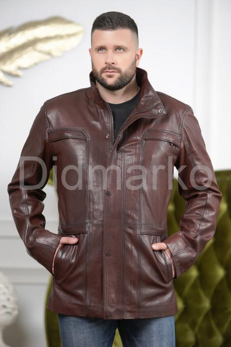 Купить Стильная мужская кожаная куртка удлиненная в Москве и Санкт-Петербурге