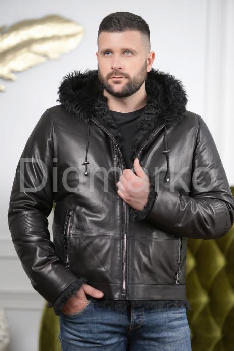 Купить Мужская дубленка черного цвета 2021-2022 в Москве и Санкт-Петербурге