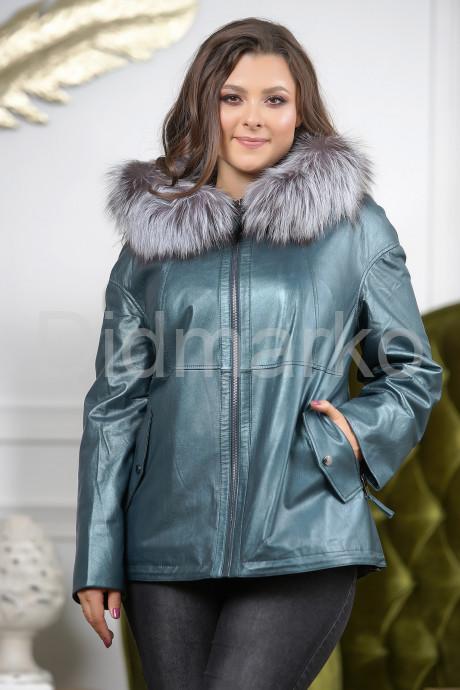 Купить Кожаная куртка больших размеров изумрудного цвета в Москве и Санкт-Петербурге