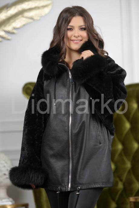 Купить Удлиненная женская дубленка с воротником из меха лисы в Москве и Санкт-Петербурге