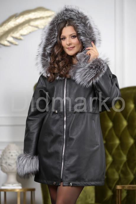 Купить Удлиненная женская дубленка на кулиске в Москве и Санкт-Петербурге