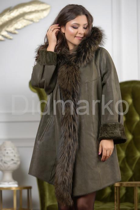 Купить Трапециевидная дубленка с мехом лисы в Москве и Санкт-Петербурге