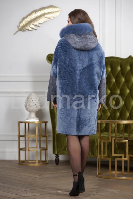 Женская дубленка сапфирового цвета