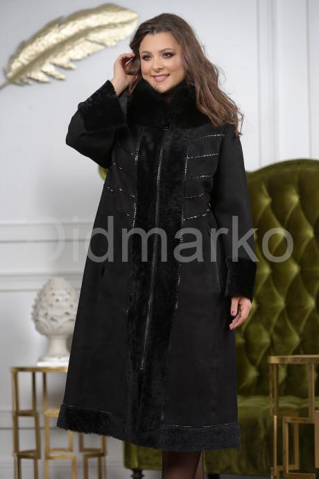Купить Элегантная длинная женская дубленка в Москве и Санкт-Петербурге
