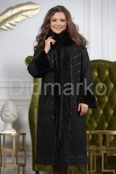 Элегантная длинная женская дубленка